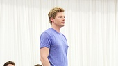 As Godspell's Jesus, Hunter Parrish greets his loyal followers.