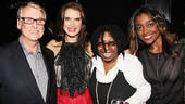 Tony-winning director Mike Nichols, who presented the New York Apple Award to Whoopi Goldberg, joins the lucky lady alongside  Brooke Shields and Sister Act's Patina Miller.