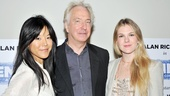 Think Alan Rickman will go easy on his female students, played by Hettienne Park and Lily Rabe? Doubtful!