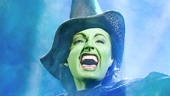 Jackie Burns as Elphaba in Wicked.