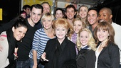 The cast of Follies wouldn't miss a photo op with Debbie Reynolds—or, as she introduced herself, Carrie Fisher's mom!