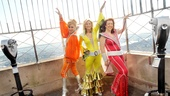 Mamma Mia Empire State Building  Jennifer Perry  Judy McLane  Lisa Brescia (observation deck pose)