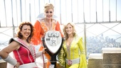 Even without the binoculars, Mamma Mia! stars Jennifer Perry, Judy McLane and Lisa Brescia can see the Winter Garden Theatre from the top of the Empire State Building!