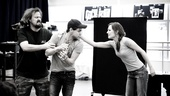 &lt;i&gt;Bonnie &amp; Clyde&lt;/i&gt; Rehearsal -  Tad Wilson  Jeremy Jordan  Laura Osnes