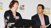 Standing on Ceremony cast members Harriet Harris and Mark Consuelos take to the stage to preview  a short play by Paul Rudnick.