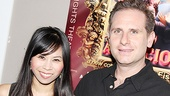 Onstage newlyweds Camille Mana and  Remy Auberjonois are all smiles on Asuncion's opening night.