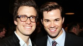 Tony nominees Gavin Creel and The Book of Mormons Andrew Rannells are on hand to check out Broadways newest religious musical.