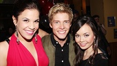 Lindsay Mendez and Anna Maria Perez de Tagle sandwich Godspell messiah Hunter Parrish.