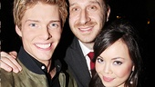 Hunter Parrish and Anna Marie Perez de Tagle come in for a hug with director Daniel Goldstein.