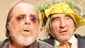 Michael McKean as Earl of Gloucester and Sam Waterston as King Lear in King Lear.