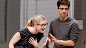 Lily Rabe as Kate, Hamish Linklater as Martin and Hettienne Park as Izzy in Seminar.