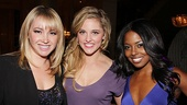 Jennifer Tisdale, who starred in Bring It On: In It to Win It on screen, is all smiles with stage stars Taylor Louderman and Adrienne Warren.