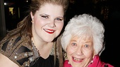 Bring In On star Ryann Redmond gets an opening night close-up with TV icon Charlotte Rae.