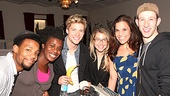 How does Hunter Parrish keep his energy up in the recording studio? With bananas, coffee and good friends like Wallace Smith, Uzo Aduba, Morgan James, Lindsay Mendez and Nick Blaemire. Congrats on the cast album, Godspell!