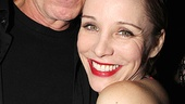 Charlotte d'Amboise gets a squeeze from her husband and biggest fan, Broadway star Terrence Mann.