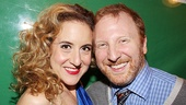Silence! leading lady Jenn Harris goes cheek to cheek with the musical's cheeky book writer Hunter Bell.
