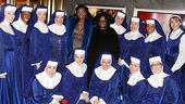 &lt;i&gt;Sister Act&lt;/I&gt; at Macys  Patina Miller  Whoopi Goldberg  the cast of &lt;i&gt;Sister Act&lt;/i&gt;