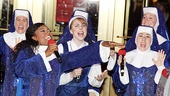 Patina Miller gets Marla Mindelle and Marissa Perry wailing in Sister Act showstopper 'Raise Your Voice.'