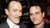 Simon Paisley Day and Paul Gross may fight for the love and attention of Kim Cattrall on stage, but the actors get along just fine once the curtain goes down.