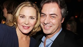 Broadway Across America CEO John Gore congratulates Private Lives leading lady Kim Cattrall on a triumphant Broadway return.