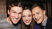 <i>Bonnie & Clyde</I> Birthday Pizza Party – Claybourne Elder – Laura Osnes – Nathan Johnson