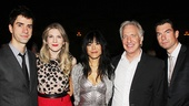 What a cast! Hamish Linklater, Lily Rabe, Hettienne Park, Alan Rickman and Jerry OConnell are enjoying every minute of their time together in Seminar. 