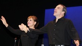 Patti LuPone and Mandy Patinkin feel the love during their opening night curtain call.