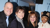 Choreographers Jim Borstelmann and Ann Reinking step in for a photo with Patti LuPone and first-nighter Angela Bassett.