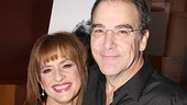 A radiant Patti LuPone and handsome Mandy Patinkin enter their opening night party.
