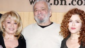 The Right Girl: Composer/lyricist Stephen Sondheim shares a smile with Elaine Paige and Bernadette Peters.