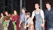 &lt;i&gt;Bonnie &amp; Clyde&lt;/i&gt; opening night  Laura Osnes  Jeremy Jordan  Talon Ackerman  Claybourne Elder  Louis Hobson