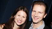 Newly engaged New York stage favorites Maggie Lacey and Bill Heck show some love for She Loves Me!