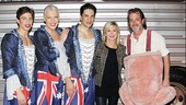 Tony Sheldon introduces Olivia Newton-John to Priscilla leading men Nick Adams, Will Swenson and C. David Johnson.