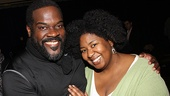 Phillip Boykin and NaTasha Yvette Williams take a moment to bask in the excitement surrounding Porgy and Bess.