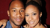 Tracie Thoms has a blast being engaged to Dul Hill on stage, but offstage she only has eyes for her real-life squeeze, J Lee. 