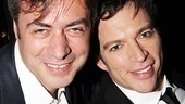 Harry Connick Jr. leans in with John Gore, owner and CEO of Key Brand Entertainment.
