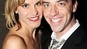 Broadway vets Jenn Colella (High Fidelity and Christian Borle (Legally Blonde) get cuddly for the camera on opening night.