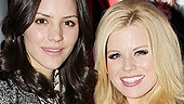 Smash onscreen rivals Katharine McPhee and Megan Hilty are all smiles at the MOMA preview.