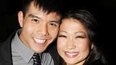 Godspell's Telly Leung and Lysistrata Jones' Katie Boren snuggle up close for an adorable photo.