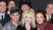 Dolly Parton at Bonnie & Clyde - Jeremy Jordan – Dolly Parton – Laura Osnes – the cast of <i>Bonnie & Clyde</i>