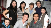 The cast of Chinglish gets together for a company photo with this Glee hoofer.