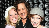 Another celebrity guest, Tony Award-winning actress Karen Ziemba, shows some serious love to leading ladies Patti Murin and Lindsay Nicole Chambers.