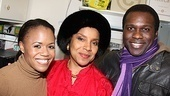 Phylicia Rashad poses with Porgy and Bess&#39; young lovers Nikki Renee Daniels and Joshua Henry.