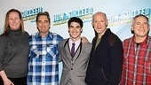 Beau Bridges and Darren Criss put their arms around Broadway Across America head of production Beth Williams and fellow producers Neil Meron and Craig Zadan.