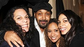 La La Anthony and more at Stick Fly  Rosario Dawsons mom Jesse L. Martin  Tracie Thoms  Rosario Dawson 