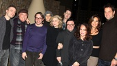 Check out this lineup! Incoming star Justin Kirk joins Stacy Keach, Matthew Broderick, Rachel Griffiths, Other Desert Cities scribe Jon Robin Baitz, Judith Light, Nathan Lane, Stockard Channing, Mariska Hargitay and Peter Hermann for a group shot.