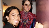 Apolo Anton Ohno Backstage at Spider-man - Apolo Anton Ohno  Reeve Carney