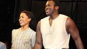 Porgy and Bess' young lovers Nikki Rene Daniels and Joshua Henry are greeted with cheers on their opening night.