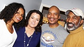 Rosie O'Donnell is all smiles as she poses with Porgy and Bess stars Audra McDonald, David Alan Grier and Norm Lewis.