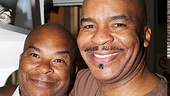 Porgy and Bess star David Alan Grier shows some brotherly love backstage at Porgy and Bess.